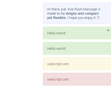 Simple Vue Flash Alert Message Component