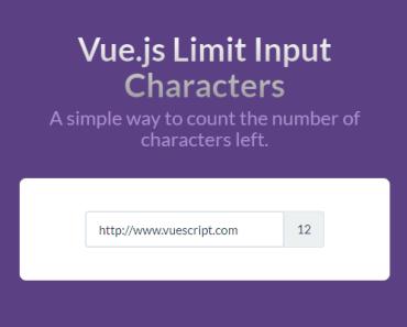 Vue.js Limit Input Characters