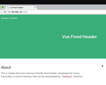 vue-fixed-header