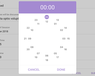 Clock Time Picker For Vue.js 2