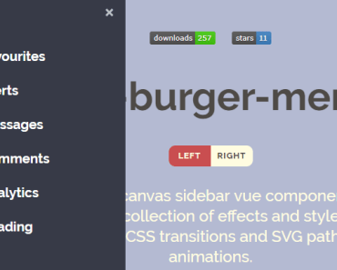 Off-canvas Burger Menu For Vue-min