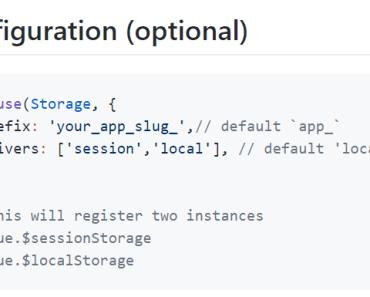 Vue Web Storage Component