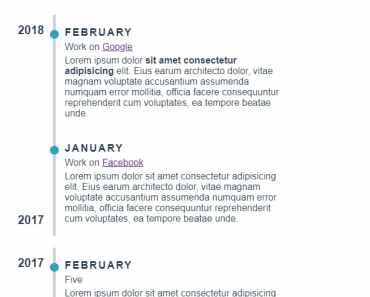 Minimalist Timeline Component For Vue.js