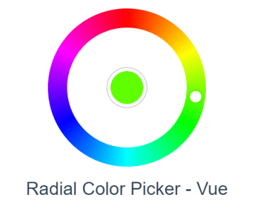 Radial Color Picker For Vue.js