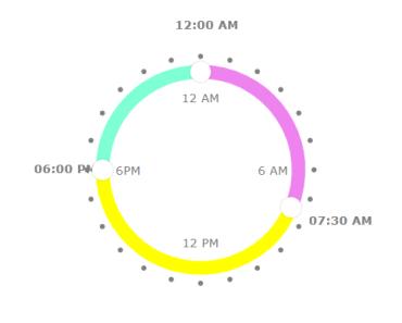 Circular Time Range Picker For Vue.js
