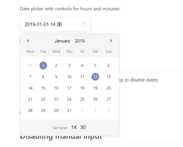 Lightweight And Mobile Friendly Date Time Picker - vue-date-pick