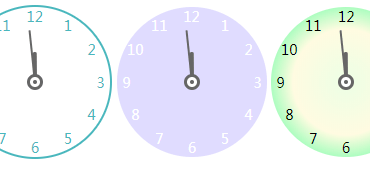 Analog Clock Component For Vue.js 2