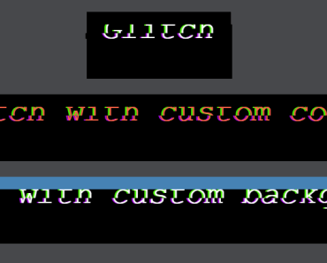 Apply Glitch Effect To Text - vue-glitch
