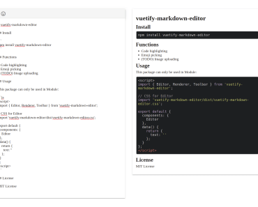 Editing and Previewing Markdown In Vue