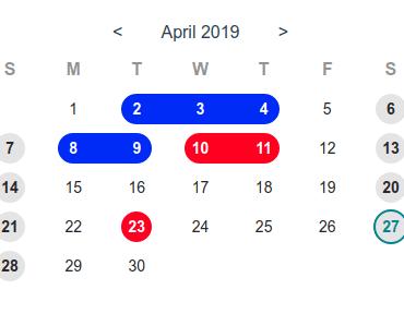 Sweet Calendar Component For Vue.js