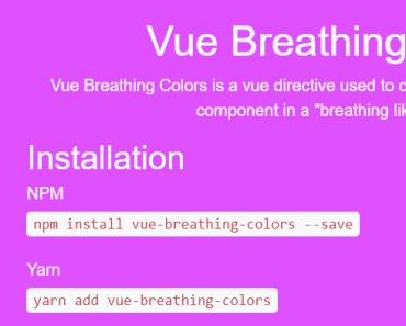 Background Color Transition Effect In Vue - Breathing Colors