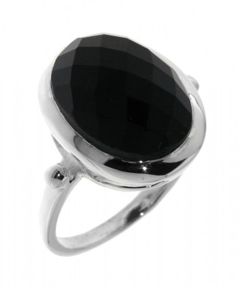 Bague Onyx Ovale taille Dome 14x12mm Ref  32010 Bague Onyx Ovale taille Dome 14x12mm