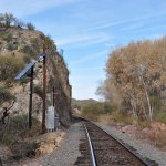 Train tracks along the Hassayampa River