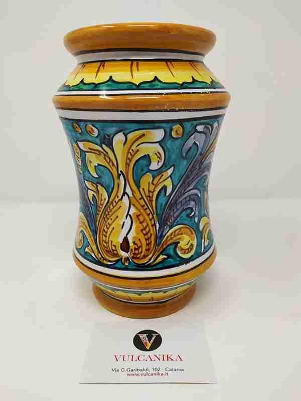 Vaso Farmacia in Ceramica di Caltagirone