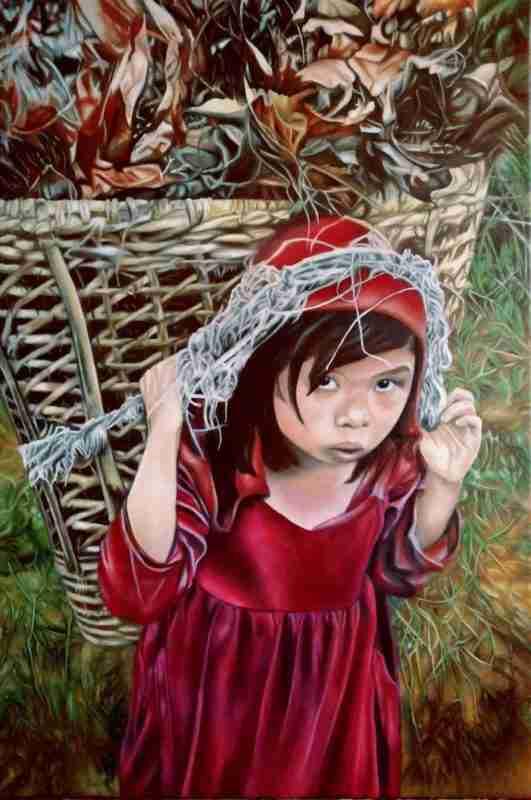 Bambina - Olio su tela Artista ALessia Interdonato
