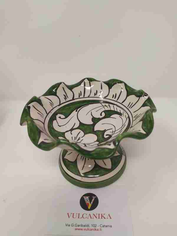 Centrotavola in Ceramica di Caltagirone dipinto a mano