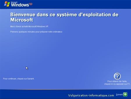 Configuration des utilisateurs - Windows XP