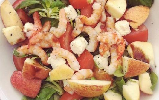 চিংড়ী-আপেল সালাদ (Prawn Apple Salad)