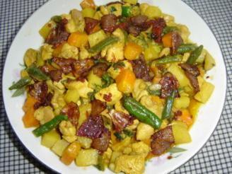 কুচো আদায় মুরগী (Chicken Vegetable with Ginger Flakes)