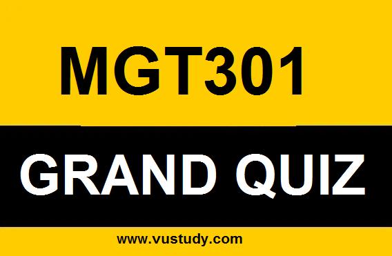 MGT301 Grand Quiz