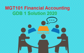MGT101 Financial Accounting GDB 1 Solution 2020