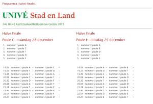 VV Buinen kerstzaalvoetbal gieten c
