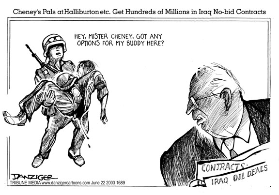 Cheney and Iraq war, cartoon