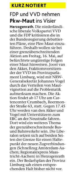Aachener Nachrichten 15-5-2014