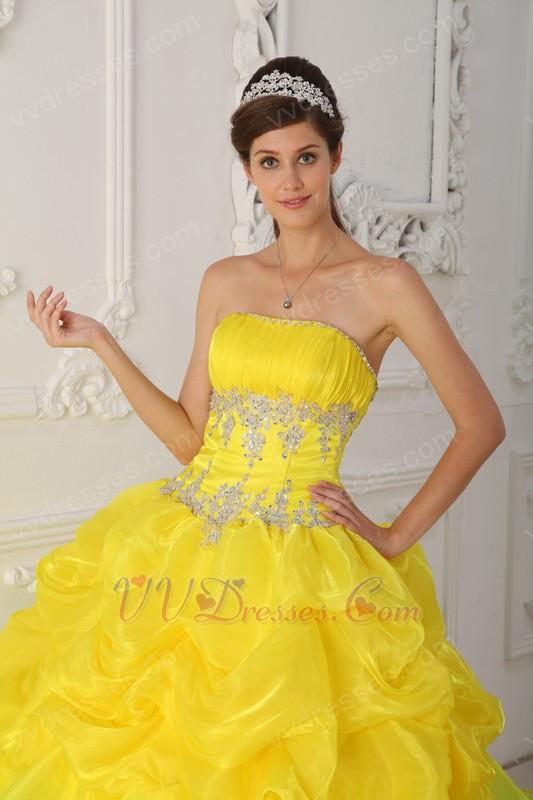 Yellow Dress Quinceanera