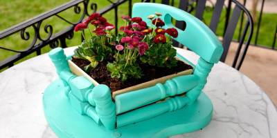Refresh, Renew, ReStore: Make a DIY planter from an old wood chair this spring