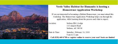 Sedona Homeowner Application Workshop February 24, 2018