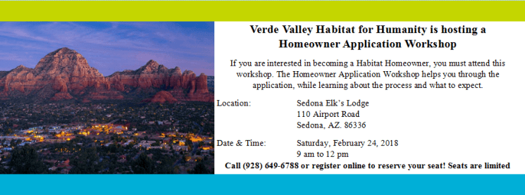 Sedona Homeowner Application Workshop February 24, 2018