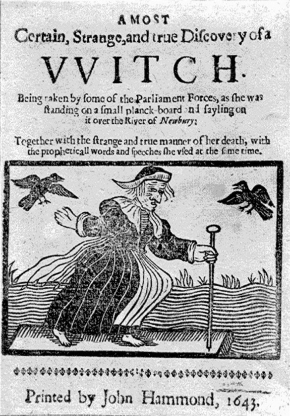 Early literature on witches and its spelling.
