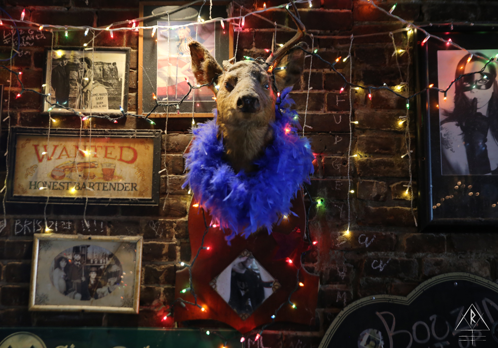 Some truly terrible and amazing taxidermy can be found at Doc Holliday's, Manhattan, NYC.