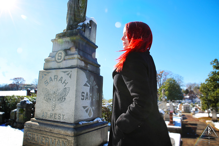 Sarah at Rest in Historic Oakland Cemetery, Atlanta, Georgia.