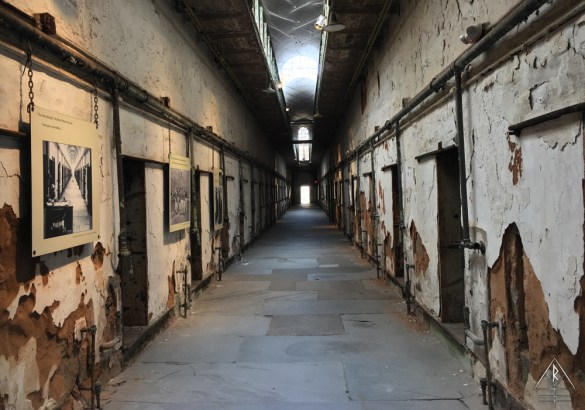 Restored wing in the Eastern State Penitentiary in Philadelphia, Pennsylvania.
