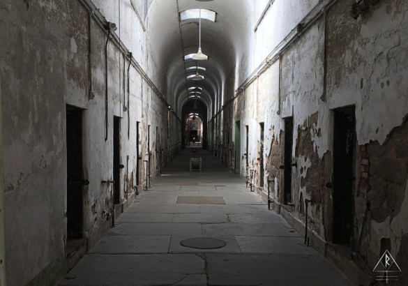 The entrance to the Eastern State Penitentiary Entrance in Philadelphia, Pennsylvania.
