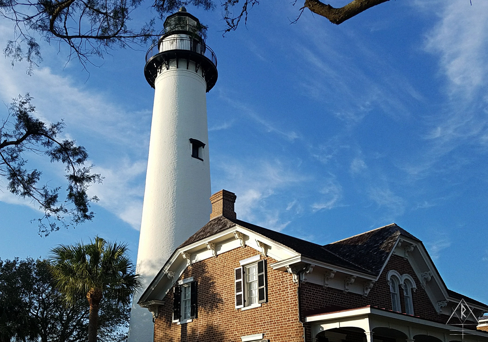The St. Simons Island Light lighthouse in, Georgia.