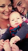 Michael, Stephanie and baby Joshua Swank