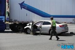 Crash on Highway 395