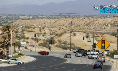 Green Tree Road heading eastbound towards Hesperia Road in Victorville. (photo by Hugo C. Valdez, Victor Valley News)