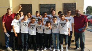 u14 boys soccer team (photo from Victorville AYSO Region 665 Facebook page)