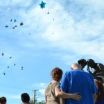 sofia adams memorial anniversary Frank Adams being comforted by his girlfriend as the balloons float away in the gentle breeze. (Photo by Diana Cabral, Victor Valley News)