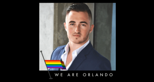 "Howard with ""We are Orlando"" logo. (Facebook)"