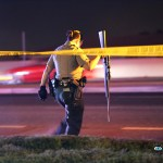 The rifle was a weapon used in a car-to-car shooting late Saturday night that ended with a crash. (Hugo Valdez, Victor Valley News)