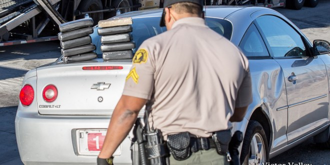 Deputies halted a car-hauler for a traffic violation and seized a large amount of suspected cocaine.(Gabriel D. Espinoza, Victor Valley News)