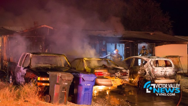 The family is asking for the help of the community after everything was lost. (Gabriel D. Espinoza, Victor Valley News)