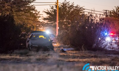 One person died following a crash on Third Avenue in Hesperia. (Gabriel D. Espinoza, Victor Valley News)