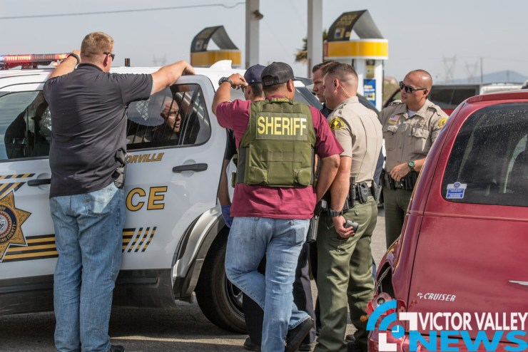A man stole his mother's vehicle and led deputies on a short pursuit in Victorville. (Gabriel D. Espinoza, Victor Valley News)