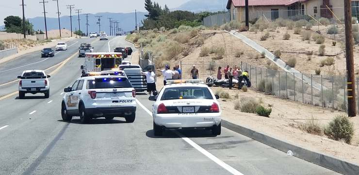 A motorcyclist was injured in a crash Tuesday. (Photo: Leanne N Chad)